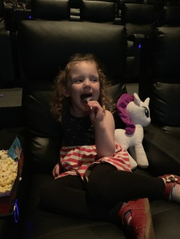 My daughter at the movies