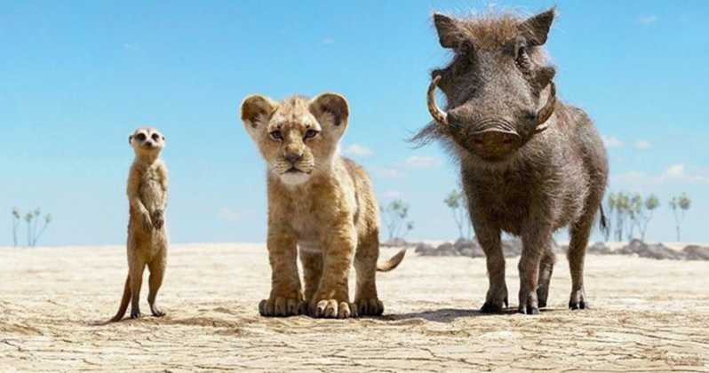 Timon, Simba, and Pumba