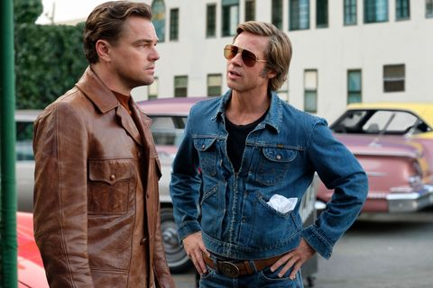 Pitt and DiCaprio in Once Upon a Time...in Hollywood