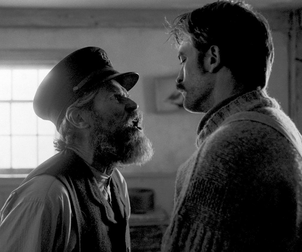 Dafoe and Pattinson in The Lighthouse